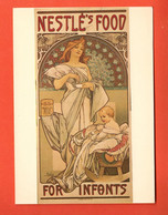 ZDE-20 Litho Repro Alphonse Mucha, Nestlé' Food For Infants 1897, With Jiri Mucha..Grand Format, Non Circulé - Mucha, Alphonse