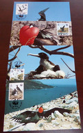 Ascension - 1990 - N°Mi. 521 à 524 - Frégate / WWF - Maxi Cards / Cartes Maxi - Non Classificati