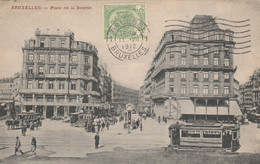 Bruxelles , Place De La Bourse , Tram , Tramway , Tram Hippomobile - Prachtstraßen, Boulevards