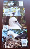 Christmas Islands - 1990 - N°Yv. 314 à 317 - Fou / WWF - Maxi Cards / Cartes Maxi - Non Classificati