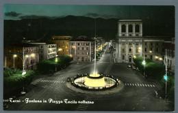 °°° Cartolina - Terni Fontana In Piazza Tacito Notturno Viaggiata (l) °°° - Terni