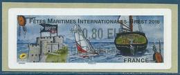 LISA 2 (ATM) LP ***0,80 EUR LETTRE PRIORITAIRE Sur Papier Brest 2016 - Ships