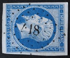 14A Margé, Obl PC 418 Bligny-sur-ouche (20 Cote D'or ) Ind 6 - 1849-1876: Classic Period
