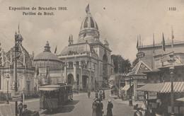 Bruxelles , Exposition 1910 , Pavillon Du Brésil , Tram , Tramway , - Prachtstraßen, Boulevards
