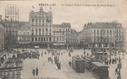 Bruxelles , Grand Hotel Scheers Sur Place Rogier , Tram , Tramway , Pub Brasserie Van Hamme Bière Bier Brouwerij - Avenidas, Bulevares