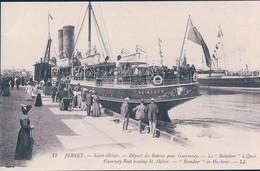 GB, Jersey, St Hélier, Départ Du Bateau REINDEER Pour Guernesey (12) - Jersey