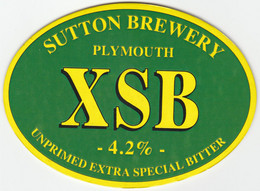 SUTTON BREWERY (PLYMOUTH, ENGLAND) - XSB EXTRA SPECIAL BITTER - PUMP CLIP FRONT - Uithangborden