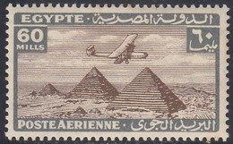 Egypt, Scott #C20, Mint Hinged, Plane Over Giza Pyramids, Issued 1933 - Posta Aerea