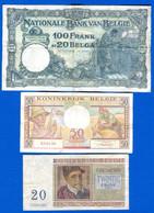 Belgique  3  Billets - Unclassified