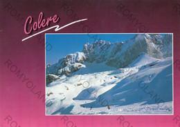 CARTOLINA  COLERE, BERGAMO,LOMBARDIA, PISTA PRESOLANA LUNGH,M.3440/7500,NELLO SFONDO LA PRESOLANA M-2521,VALLE DI SCALVE - Bergamo