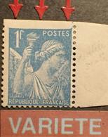R1098/151 - 1944 - TYPE IRIS - N°650 NEUF* BdF - SUPERBE VARIETE (RARE) ➤➤➤ Timbre Dentelé Sur 3 Cotés - Abarten: 1941-44 Ungebraucht