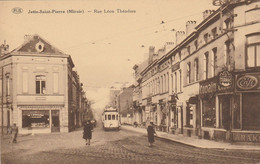 Jette-Saint-Pierre. (Miroir)  ,  Rue Léon Théodore , Tram , Tramway , - Jette