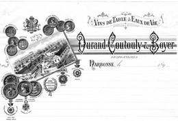 1 Facture  Durand - Coutouly & Boyer NARBONNE Vins De Table & Eaux - De-Vie  1899 - Wine