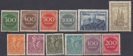 DEUTSCHES REICH - 1923 - Serie Completa Composta Da 12 Valori Nuovi MNH: Yvert 239/250. - Ongebruikt