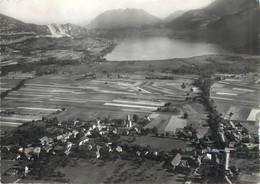"""/ CPSM FRANCE 74 """"Doussard, Vue Générale Aérienne Et Le Lac D'Annecy"""" - Doussard"""