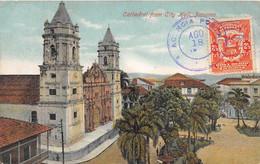 PANAMA - CATEDRAL FROM CITY HALL - Panama