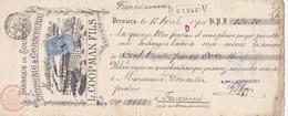 60 Effet De Commerce Tannerie Et Corroierie Verviers à Farciennes - 1893-1900 Thin Beard