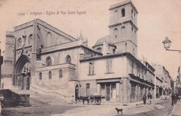 "AVIGNON "" Eglise Et Rue Saint Agniol ,tres Animée ""     N°7819 - Avignon"