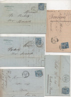 Lot DIVERS: 5 Lettres TYPE SAGES - 1877-1920: Periodo Semi Moderno