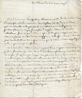 Lettre De Mgr Franchet De Rans évêque De Rosy à Un Prêtre Lorrain Réfugié à Milan, 23/3/1796 - Historical Documents