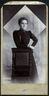 Romania / Hungary - Transylvania: Kabinettfoto, Junge Dame (Fotograf: Nagy J - Déva) 1909 - Anonyme Personen