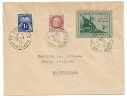 RARE Pli Du 11 /04/1945 Le Pouliguen Poche De Saint Nazaire Avec Le Guerre N° 8 Et Les N° 517 Et Le Taxe N° 70 TB ! ! ! - Wars