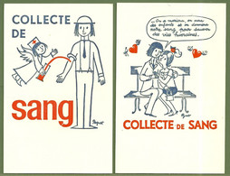 CP - COLLECTE DE SANG / PEYNET - 2 Cartes - Health