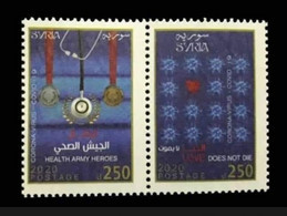 Syria,Syrie,Covid-19,Health Army Heroes, 2 Stamps, Mint.. - Syrien