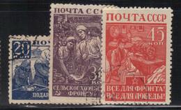Russie - URSS 1942/43 Yvert 866/68/69 Oblitérés (AD93) - Gebraucht