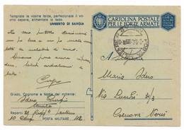 DA P.M. 42 ( ITALIA ) A GENOVA NERVI - 1.9.1943 - P.7. - Militaire Post (PM)