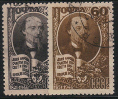 Russie - URSS 1946 Yvert 1077/78 Oblitérés (AD95) - Used Stamps