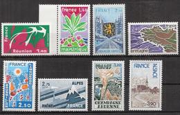France - YT 1914 à 1921 (1977) Régions (Réunion, Martinique, Franche-Comté, Bretagne, Languedoc-Roussillon, Rhône-Alpes, - Nuevos
