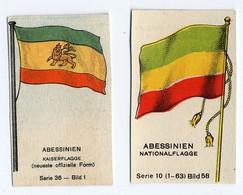 Fahnen / Flags 1929 - 36 - Abessinien, Abyssinia, Ethiopia - 2 Chromo's - Sin Clasificación