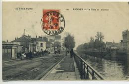 CPA 35 RENNES - La Gare De VIARMES  - Canal, Voies Ferrées - Sonstige Gemeinden