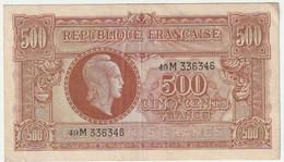 Billet  De  500 F Marianne De Dulac 1945  (très Non état) - 1943-1945 Marianne