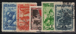 Russie - URSS 1943/44 Yvert 919/23 Oblitérés (AD98) - Used Stamps