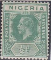 Nigeria 1914 1/2p Verde MiN°1 MLH/* Vedere Scansione - Nigeria (...-1960)