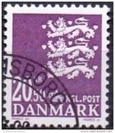 DENEMARKEN 2008 20.50kr Rijkswapen Violet GB-USED. - Gebraucht