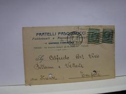CAPRAIA FIORENTINA  -- FIRENZE  ---    FRATELLI PASQUINUCCI   -- FABBRICANTI DI STOVIGLIE - Firenze (Florence)