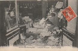 ZA 13-(51) VITRY LE FRANCOIS - COMPTOIRS FRANCAIS - APRES LE PILLAGE - 2 SCANS - Vitry-le-François