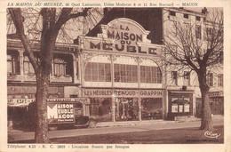 Mâcon La Maison Du Meuble Renoud Grappin Camion Café Commerce Théâtre Quai Lamartine éd Combier - Macon