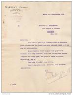 71 AUTUN FACTURE 1909 Machines Agricoles SAUZAY Frères * S7 - Agriculture