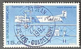 FRAPA57Ub - Poste Aérienne - Avion Bimoteur Farman F 60 Goliath - 15 F Used Variety Stamp 1987 - France YT PA 57b - 1960-.... Oblitérés