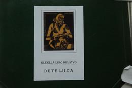 B5 / CARTE FDC ILLUSTREE KLEKLJARSKO DRUSTVO DETELJICA  GORENJA SLOVENIJA TIMBRE IDENTIQUE A LA CARTE - Slovenia