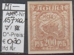 """1921 - RUSSLAND - FM/DM """"Befreiung Der Arbeit"""" 200 R Braun  (ru 157 Xa) - Unused Stamps"""