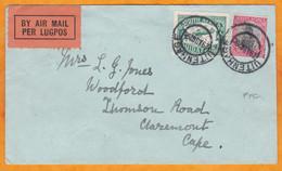 1929 -  Enveloppe De 1er Vol De Uitenhage (Eastern Cape) Vers Cape Town Le Cap - Affrt  5 D - Cad Arrivée - Storia Postale