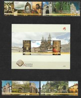 Portugal 2015 Mi.Nr. 4038 / 41 + Block 376 , Caminhos De Santiago - Postfrisch / MNH / (**) - Unused Stamps