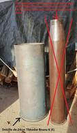 Extrêmement Rare Douille D'obus De 24cm Theodor Bruno 1940 - Sammlerwaffen