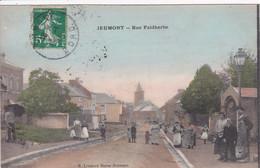 59 JEUMONT Rue Faidherbe  ,femmes Et Enfants Dans La Rue ,1913 - Jeumont