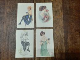 Cartes Postales Avec Des Femmes. - Fiori